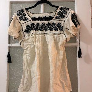 Ulla Johnson embroidered peasant blouse